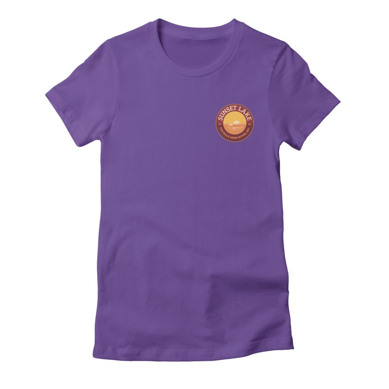 Color logo Women's Fitted T-Shirt by Sunset Lake Swag
