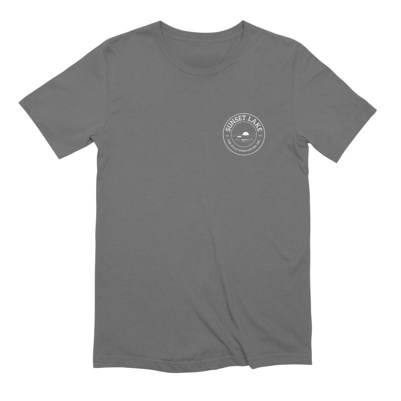 White logo: Small Men's T-Shirt by Sunset Lake Swag