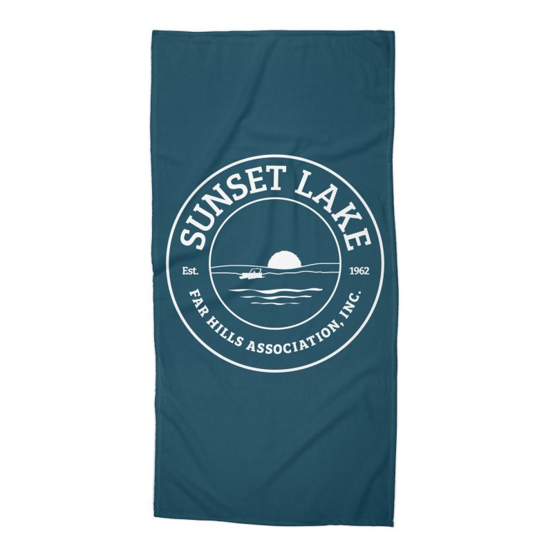 White Logo: BIG Accessories Beach Towel by Sunset Lake Swag