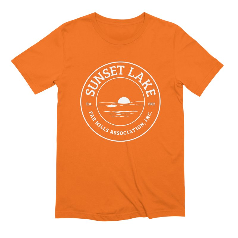 White Logo: BIG Men's Extra Soft T-Shirt by Sunset Lake Swag