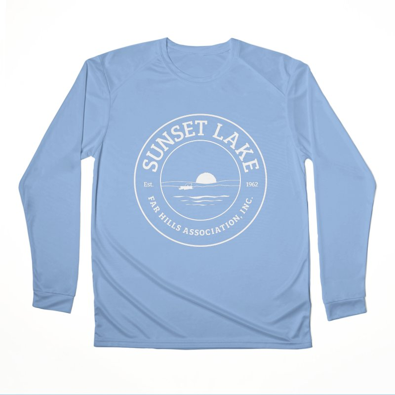 White Logo: BIG Men's Performance Longsleeve T-Shirt by Sunset Lake Swag