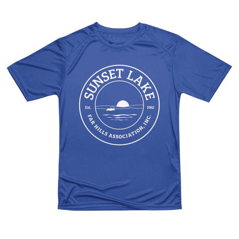 White Logo: BIG Women's Performance Unisex T-Shirt by Sunset Lake Swag