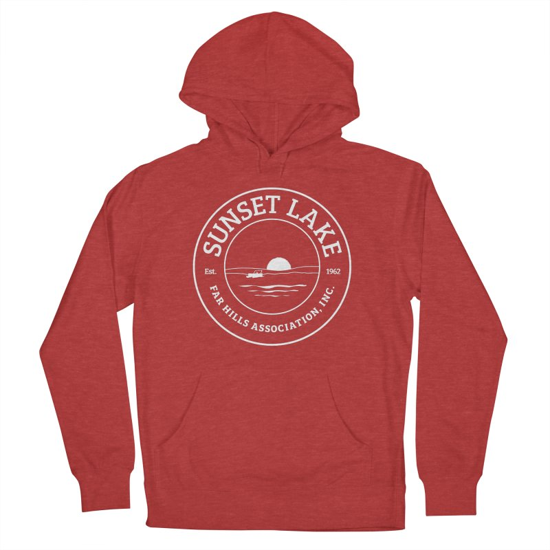 White Logo: BIG Women's French Terry Pullover Hoody by Sunset Lake Swag