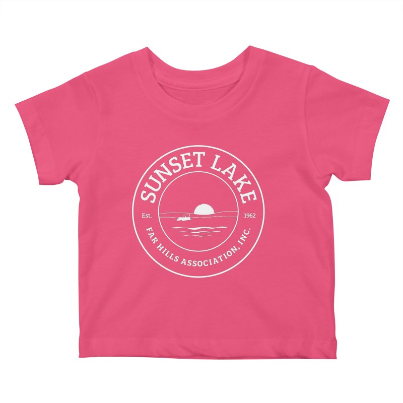 White Logo: BIG Kids Baby T-Shirt by Sunset Lake Swag