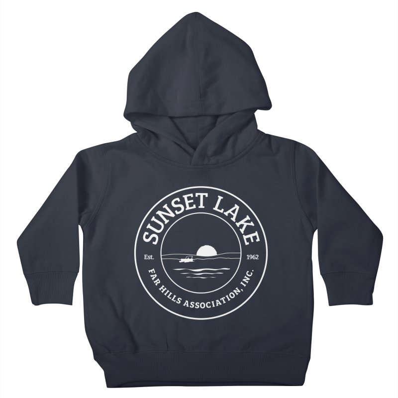 White Logo: BIG Kids Toddler Pullover Hoody by Sunset Lake Swag