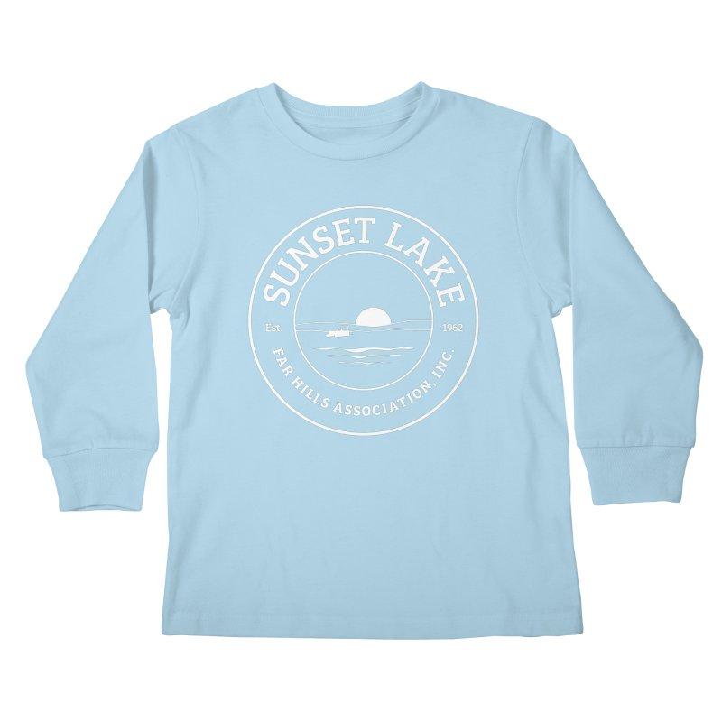 White Logo: BIG Kids Longsleeve T-Shirt by Sunset Lake Swag