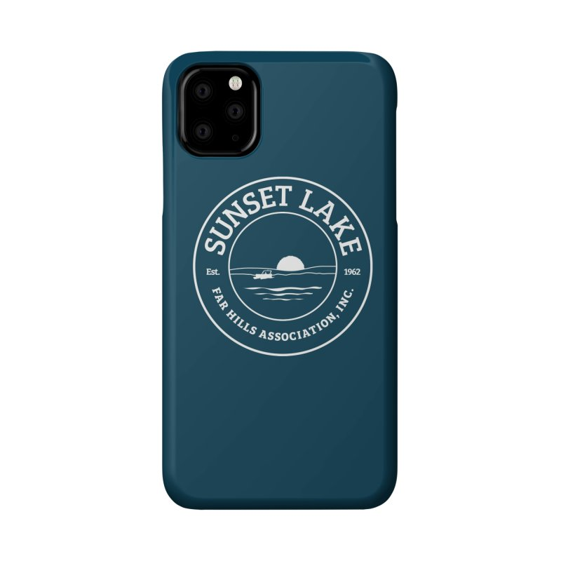 White Logo: BIG Accessories Phone Case by Sunset Lake Swag