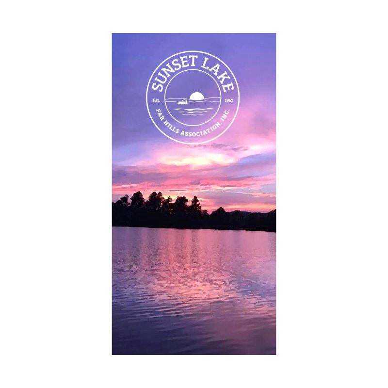 Purple Sunset: Beach Towel Accessories Beach Towel by Sunset Lake Swag