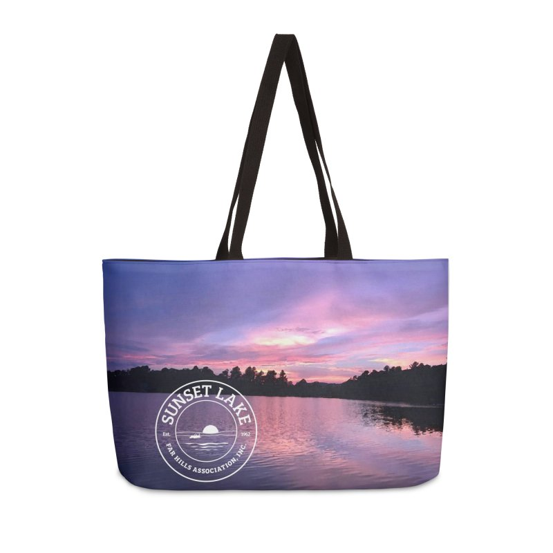 Purple Sunset Design Accessories Bag by Sunset Lake Swag