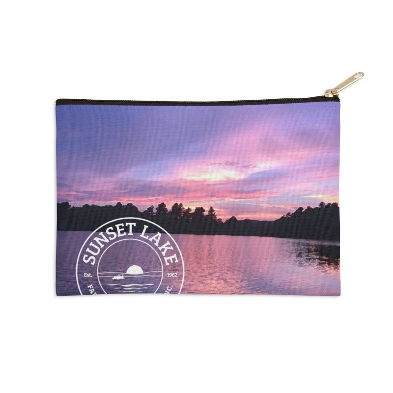 Purple Sunset Design Accessories Zip Pouch by Sunset Lake Swag