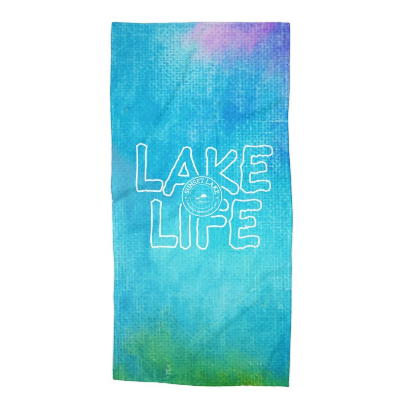 Lake Life #1 Accessories Beach Towel by Sunset Lake Swag