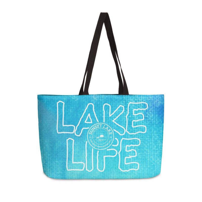 Lake Life #1 Accessories Weekender Bag Bag by Sunset Lake Swag
