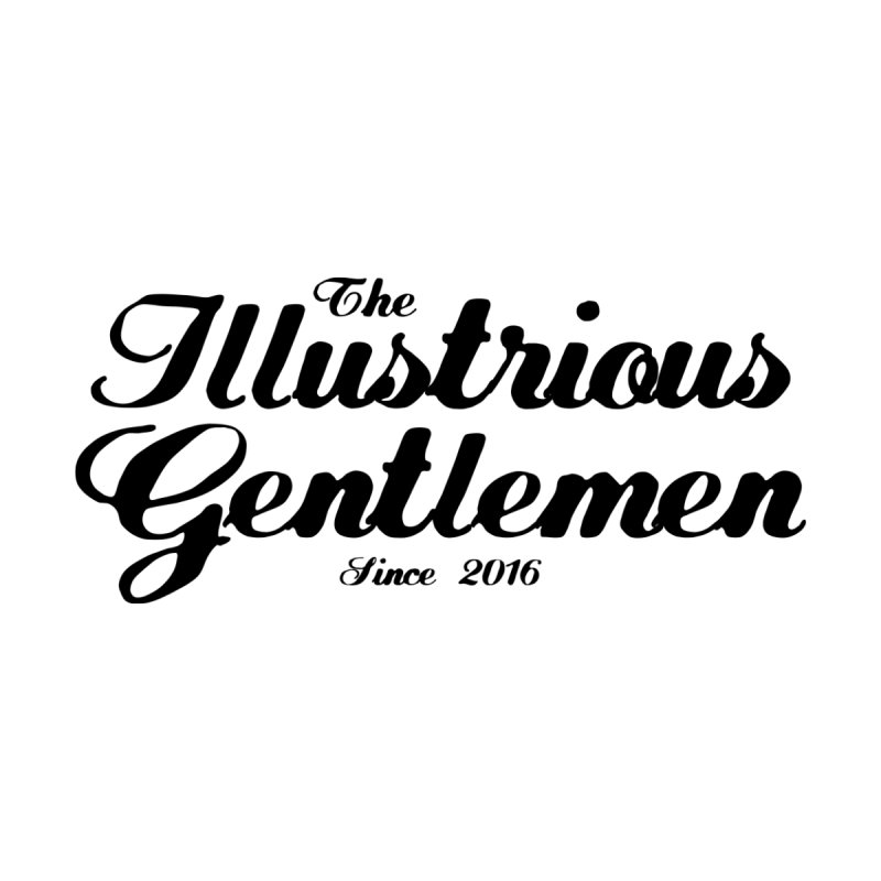 The Illustrious Gentlemen Classic Black Logo Men's T-Shirt by Super75studios's Artist Shop