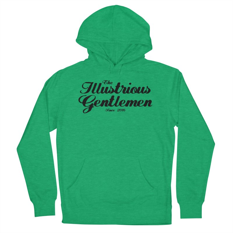 The Illustrious Gentlemen Classic Black Logo Men's French Terry Pullover Hoody by Super75studios's Artist Shop