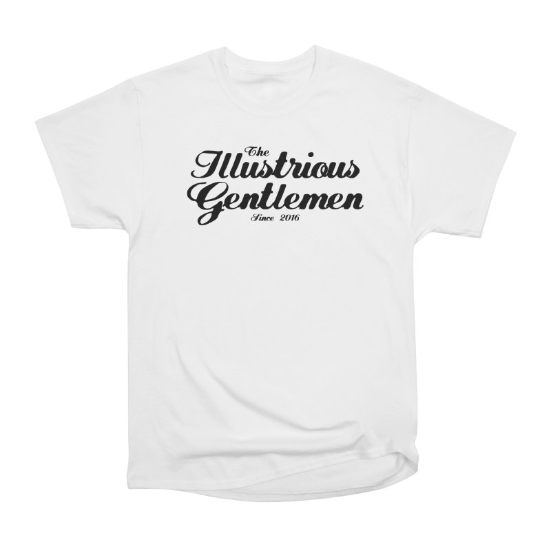 The Illustrious Gentlemen Classic Black Logo Women's Heavyweight Unisex T-Shirt by Super75studios's Artist Shop