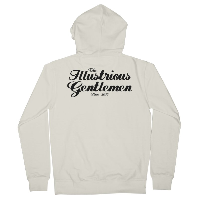 The Illustrious Gentlemen Classic Black Logo Women's Zip-Up Hoody by Super75studios's Artist Shop