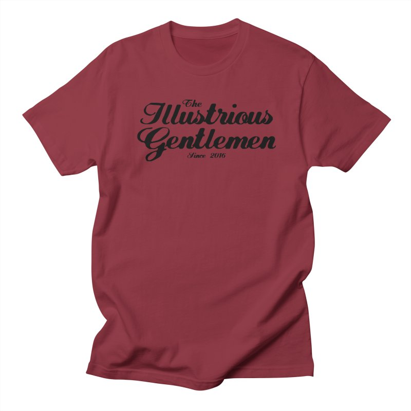The Illustrious Gentlemen Classic Black Logo Men's Regular T-Shirt by Super75studios's Artist Shop