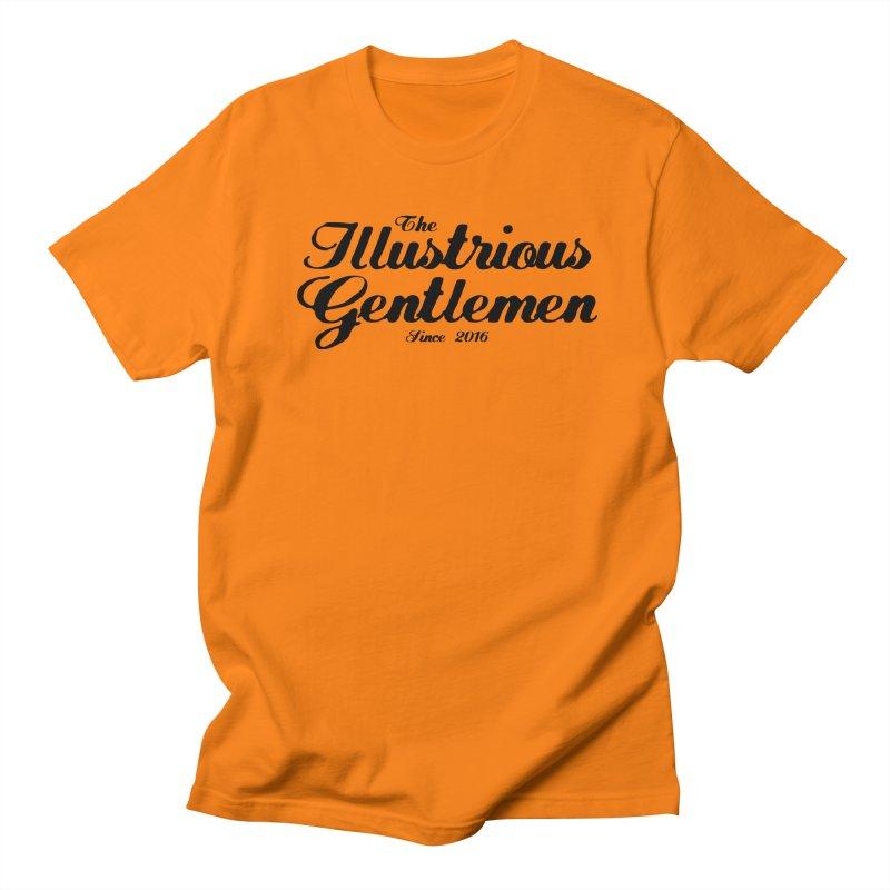 The Illustrious Gentlemen Classic Black Logo Men's Regular T-Shirt by Super75studios's Artist Shop