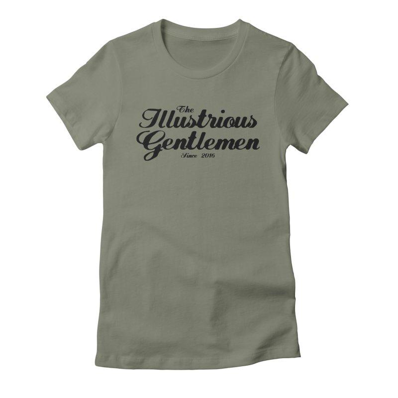 The Illustrious Gentlemen Classic Black Logo Women's Fitted T-Shirt by Super75studios's Artist Shop
