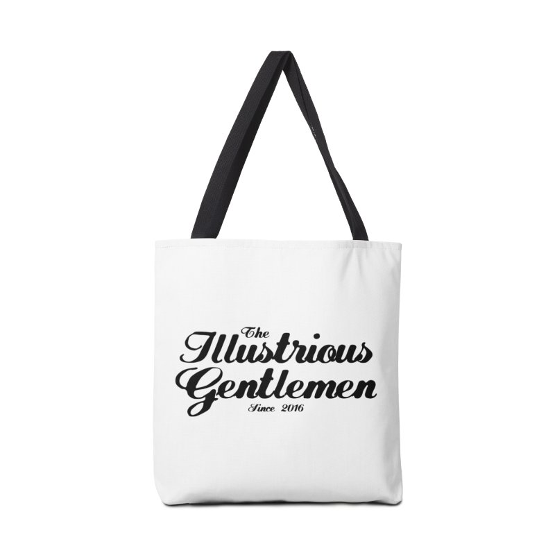 The Illustrious Gentlemen Classic Black Logo Accessories Tote Bag Bag by Super75studios's Artist Shop
