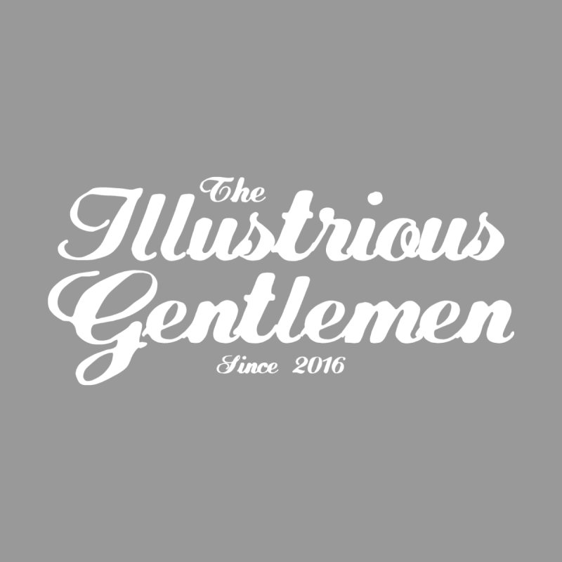 The Illustrious Gentlemen Classic White Logo Women's Zip-Up Hoody by Super75studios's Artist Shop
