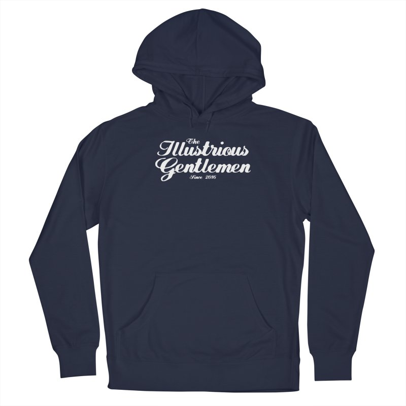 The Illustrious Gentlemen Classic White Logo Men's Pullover Hoody by Super75studios's Artist Shop