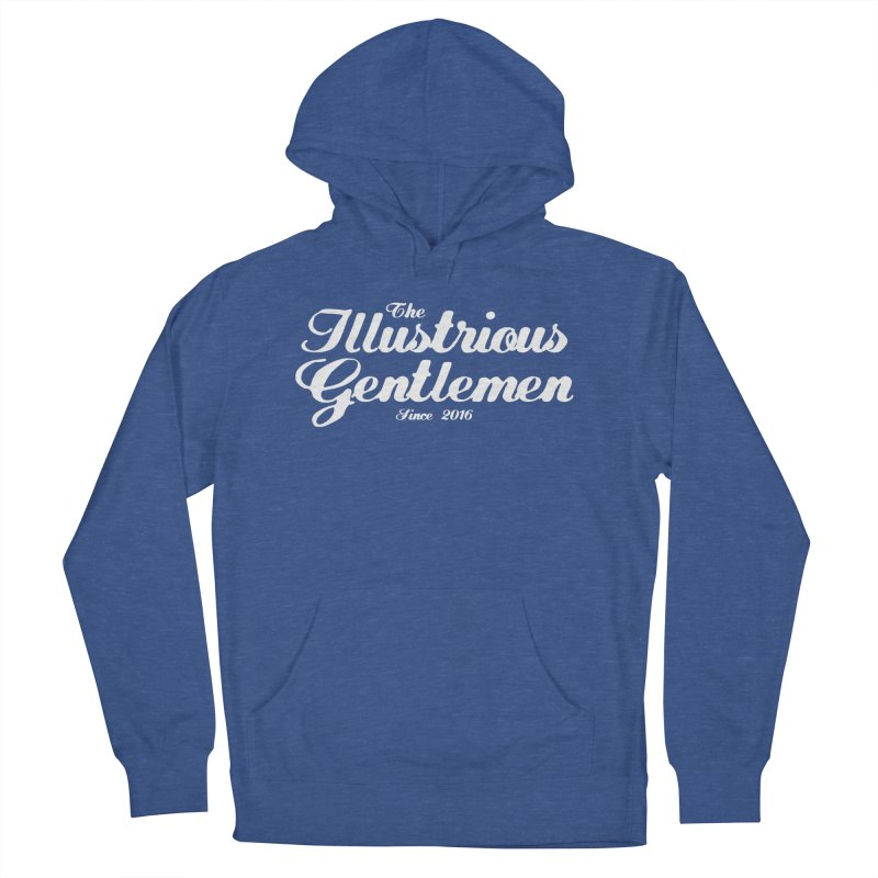 The Illustrious Gentlemen Classic White Logo Women's French Terry Pullover Hoody by Super75studios's Artist Shop