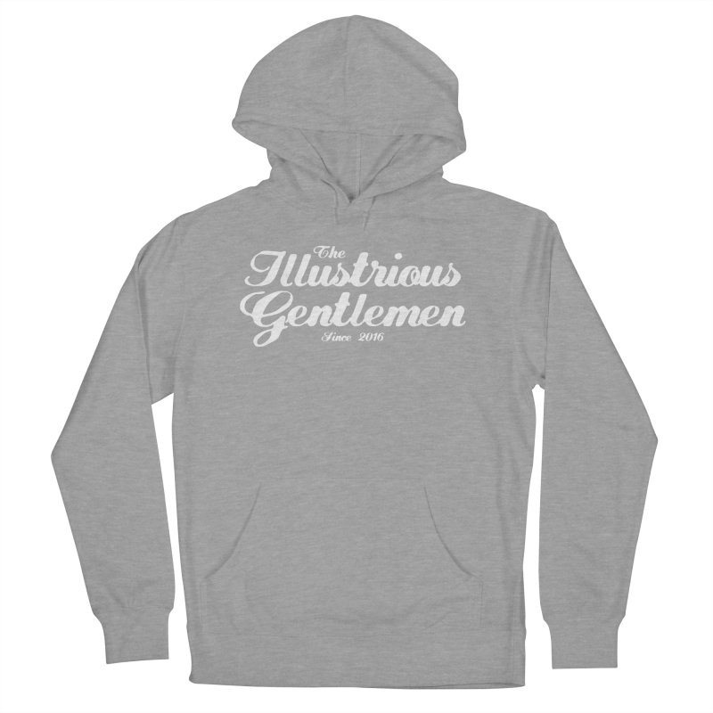 The Illustrious Gentlemen Classic White Logo Men's French Terry Pullover Hoody by Super75studios's Artist Shop