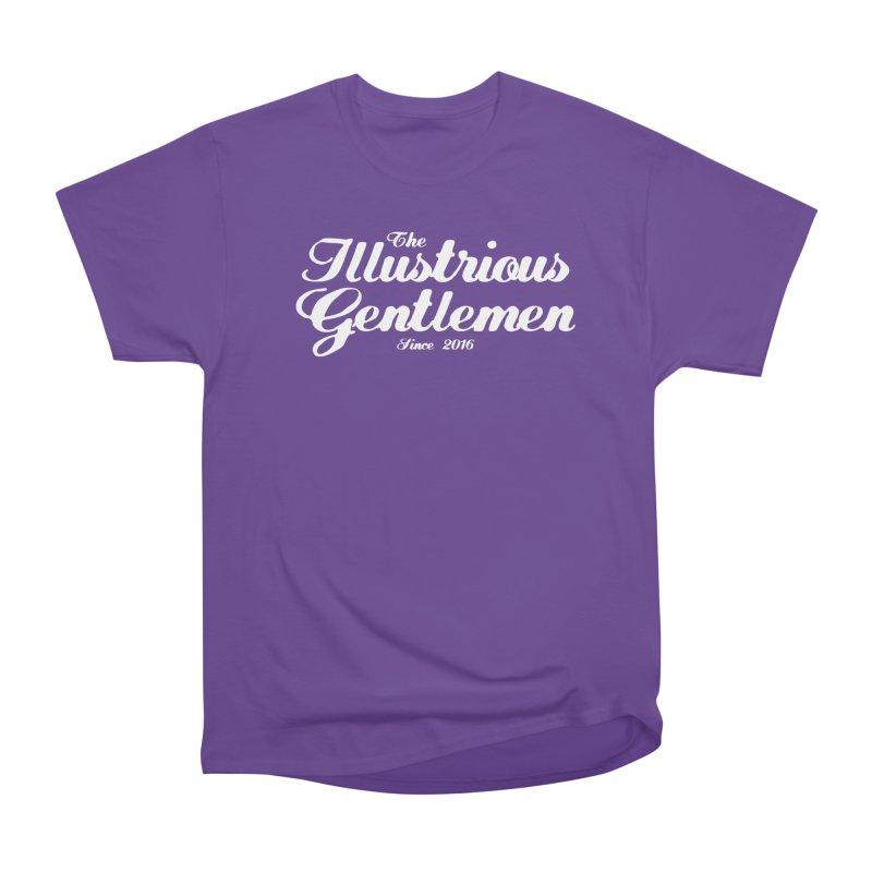 The Illustrious Gentlemen Classic White Logo Men's Heavyweight T-Shirt by Super75studios's Artist Shop