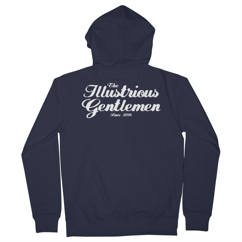 The Illustrious Gentlemen Classic White Logo Women's French Terry Zip-Up Hoody by Super75studios's Artist Shop