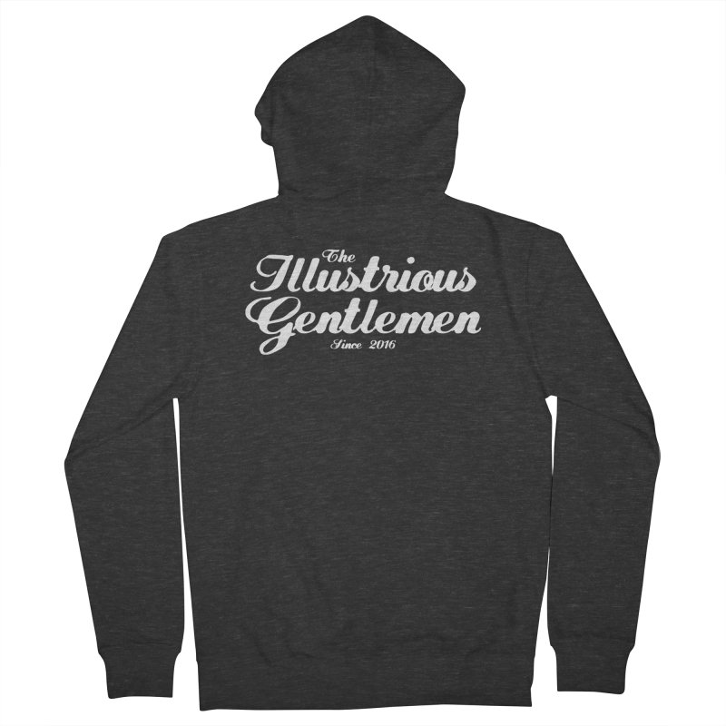 The Illustrious Gentlemen Classic White Logo Men's French Terry Zip-Up Hoody by Super75studios's Artist Shop