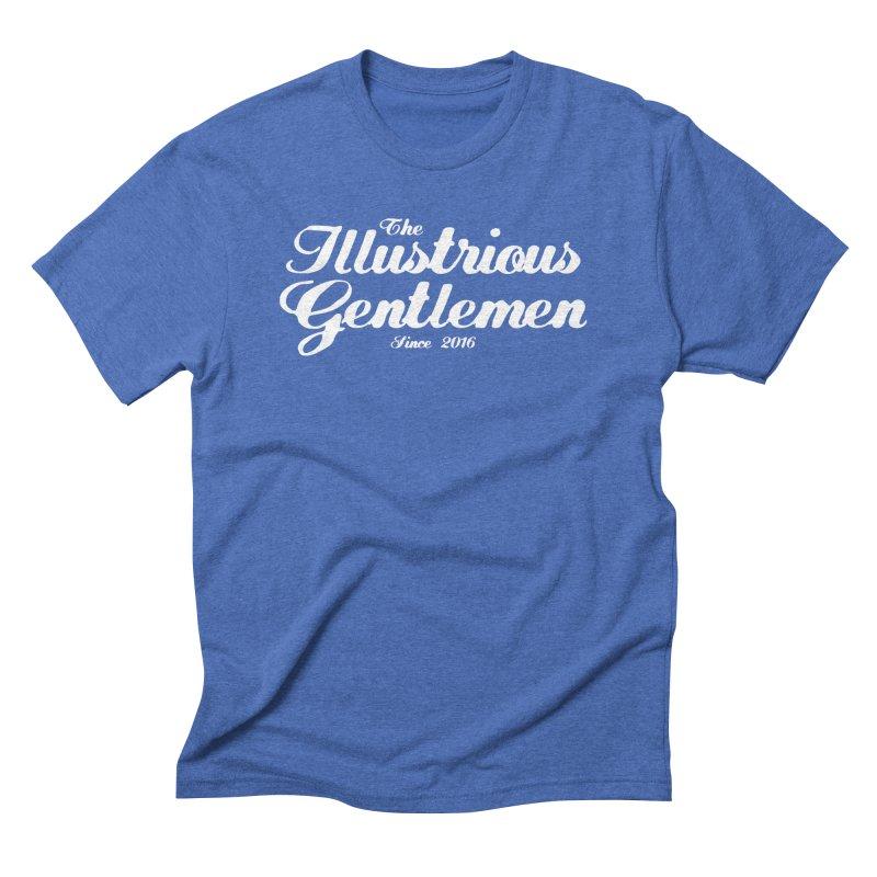 The Illustrious Gentlemen Classic White Logo Men's Triblend T-Shirt by Super75studios's Artist Shop