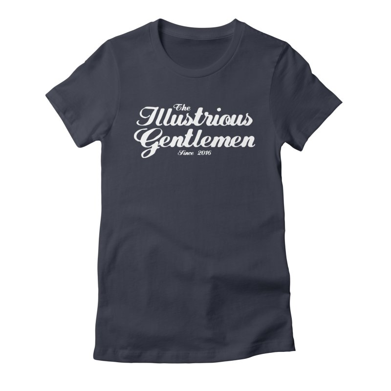The Illustrious Gentlemen Classic White Logo Women's Fitted T-Shirt by Super75studios's Artist Shop