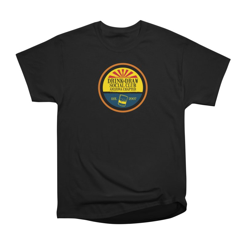 Drink & Draw Social Club, Arizona Chapter Women's Heavyweight Unisex T-Shirt by Super75studios's Artist Shop