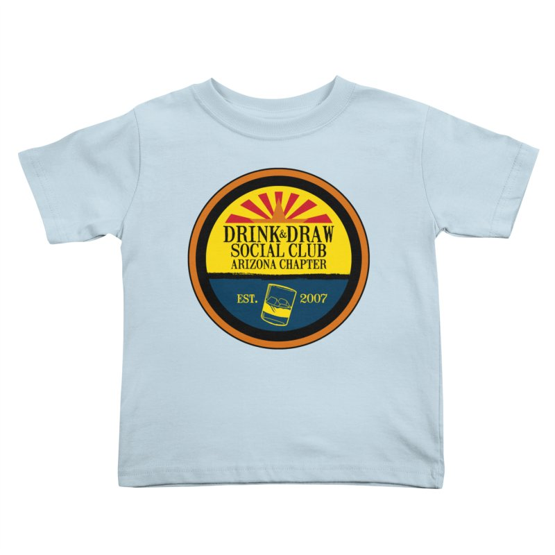 Drink & Draw Social Club, Arizona Chapter Kids Toddler T-Shirt by Super75studios's Artist Shop