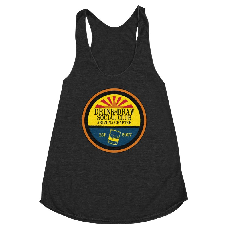 Drink & Draw Social Club, Arizona Chapter Women's Racerback Triblend Tank by Super75studios's Artist Shop