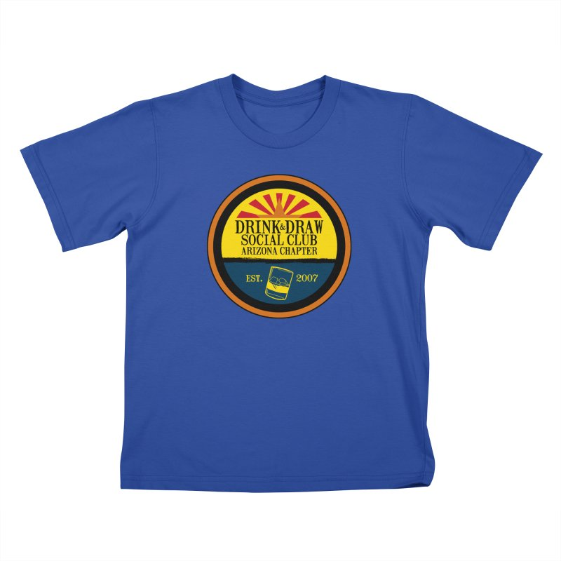 Drink & Draw Social Club, Arizona Chapter Kids T-Shirt by Super75studios's Artist Shop