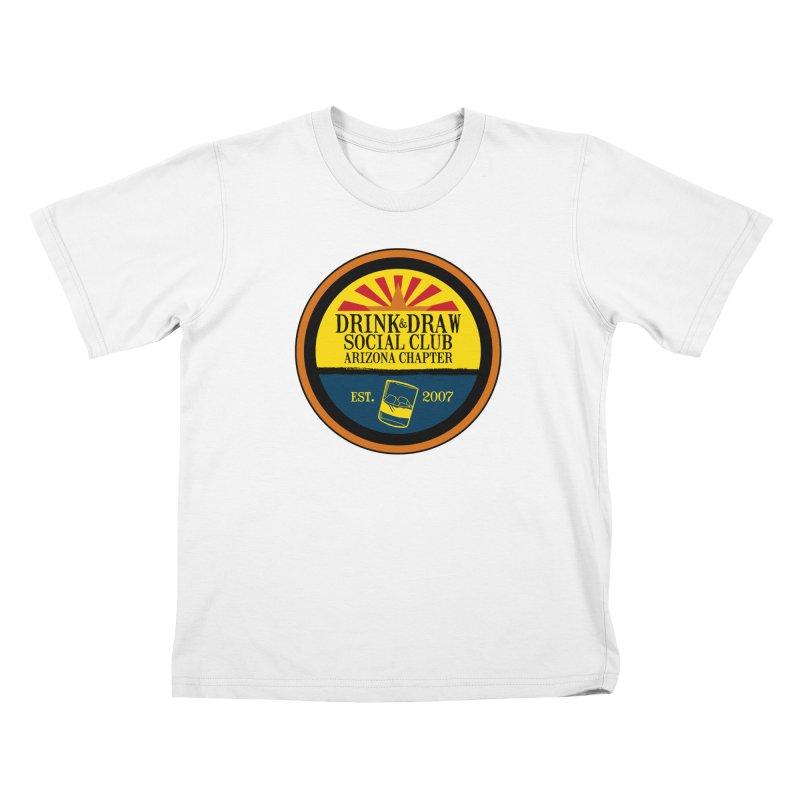 Drink & Draw Social Club, Arizona Chapter Kids T-Shirt by Super75studios's Artist Shop