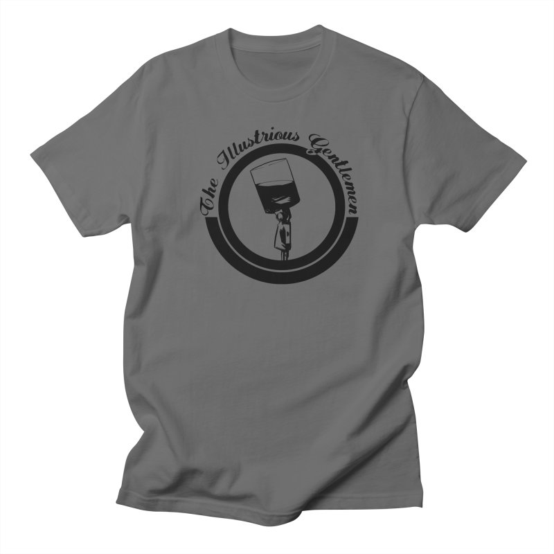 The Illustrious Gentlemen WhiskeyMic Black Logo Men's T-Shirt by Super75studios's Artist Shop