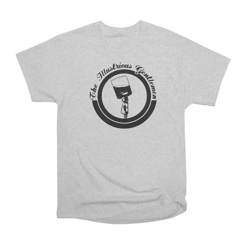The Illustrious Gentlemen WhiskeyMic Black Logo Women's Heavyweight Unisex T-Shirt by Super75studios's Artist Shop