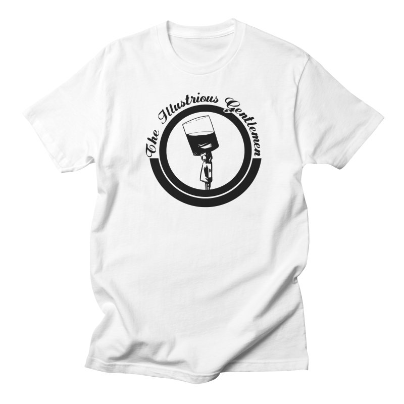 The Illustrious Gentlemen WhiskeyMic Black Logo Men's Regular T-Shirt by Super75studios's Artist Shop