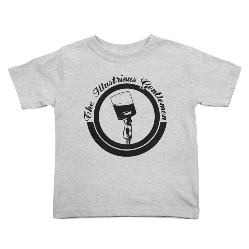 The Illustrious Gentlemen WhiskeyMic Black Logo Kids Toddler T-Shirt by Super75studios's Artist Shop