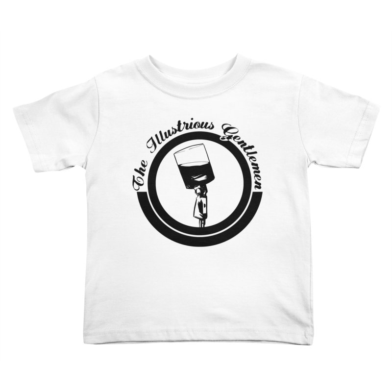 The Illustrious Gentlemen WhiskeyMic Black Logo Kids Toddler T-Shirt by Super75studios's Artist Shop