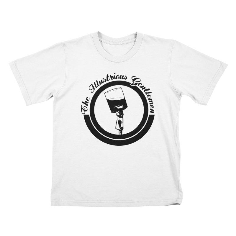 The Illustrious Gentlemen WhiskeyMic Black Logo Kids T-Shirt by Super75studios's Artist Shop