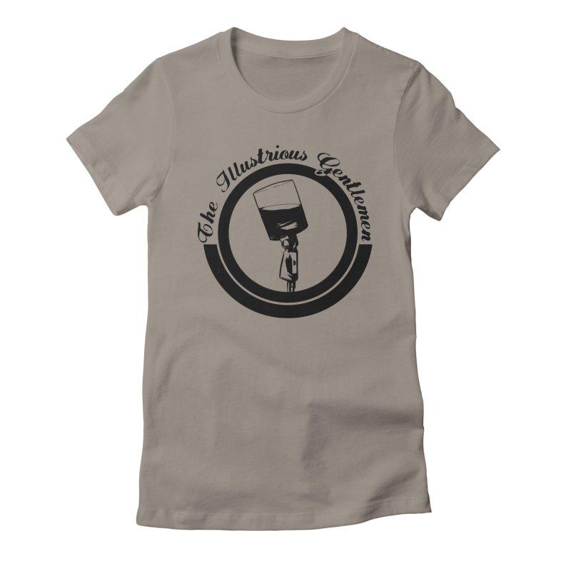 The Illustrious Gentlemen WhiskeyMic Black Logo Women's Fitted T-Shirt by Super75studios's Artist Shop