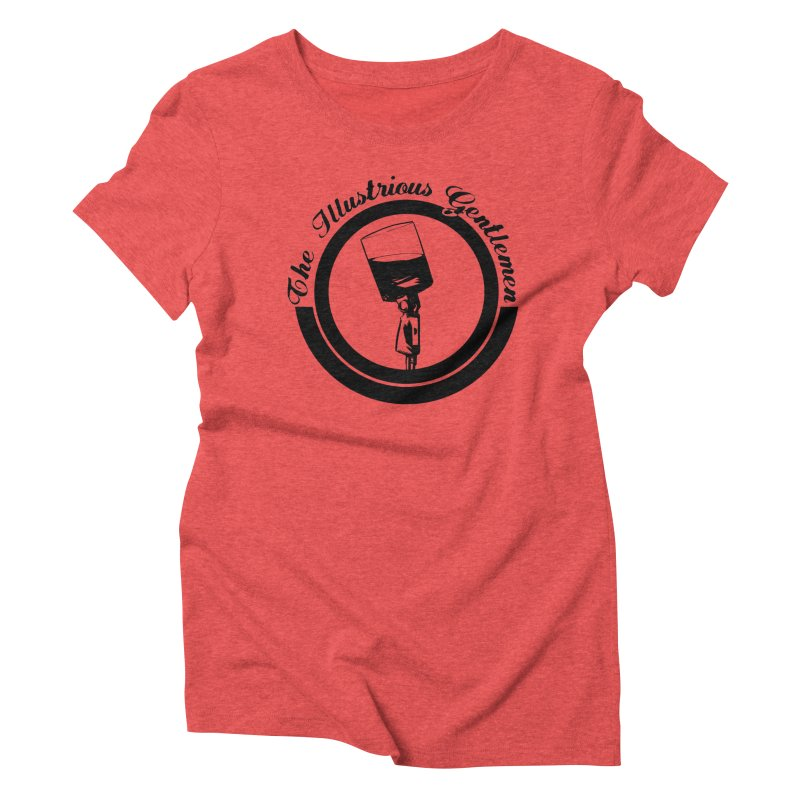 The Illustrious Gentlemen WhiskeyMic Black Logo Women's Triblend T-Shirt by Super75studios's Artist Shop