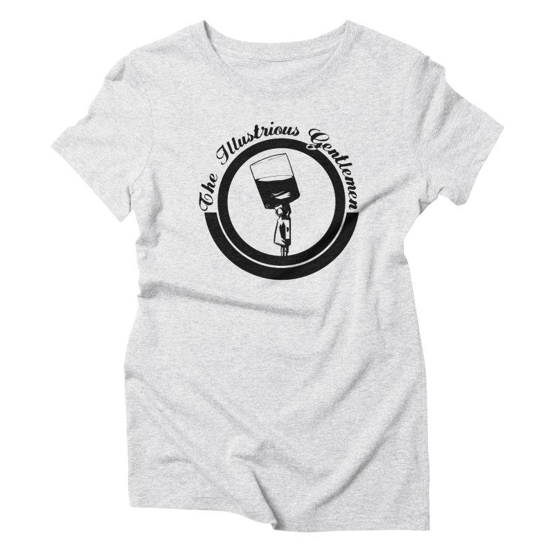 The Illustrious Gentlemen WhiskeyMic Black Logo Women's T-Shirt by Super75studios's Artist Shop