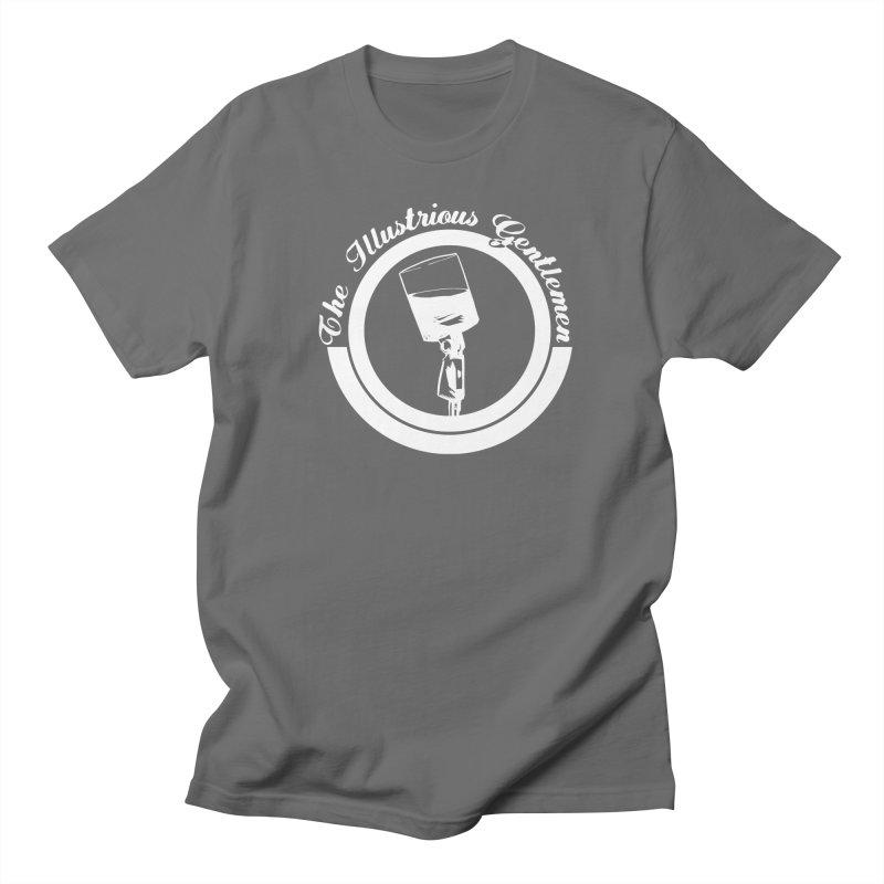 The Illustrious Gentlemen WhiskeyMic White Logo Men's Regular T-Shirt by Super75studios's Artist Shop