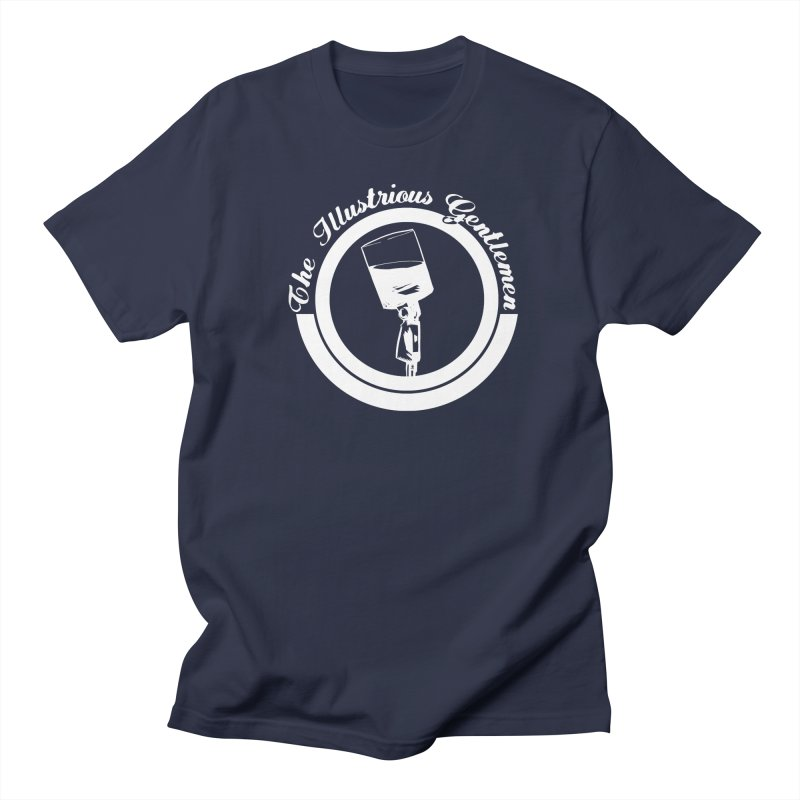 The Illustrious Gentlemen WhiskeyMic White Logo Women's Regular Unisex T-Shirt by Super75studios's Artist Shop
