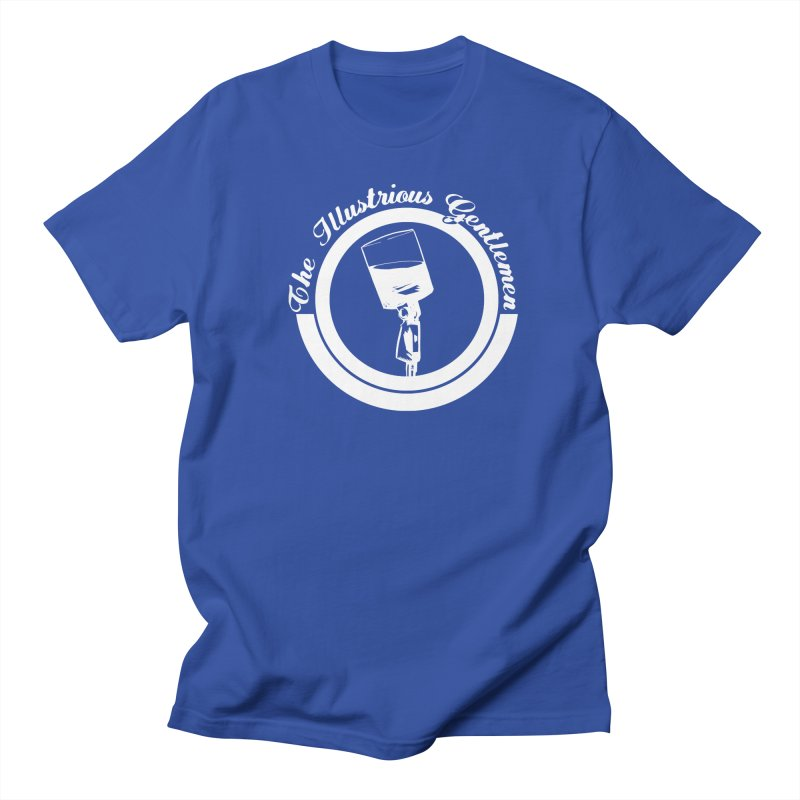 The Illustrious Gentlemen WhiskeyMic White Logo Women's Regular Unisex T-Shirt by Super75studios's Artist Shop
